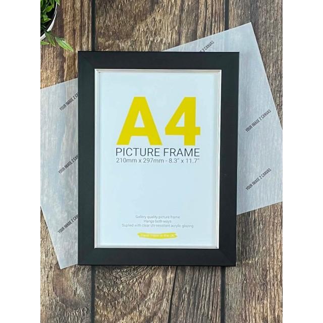 A4 Black Frame