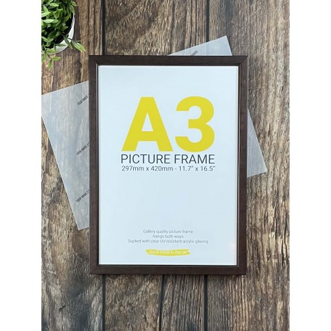 A3 Brown Poster Frame
