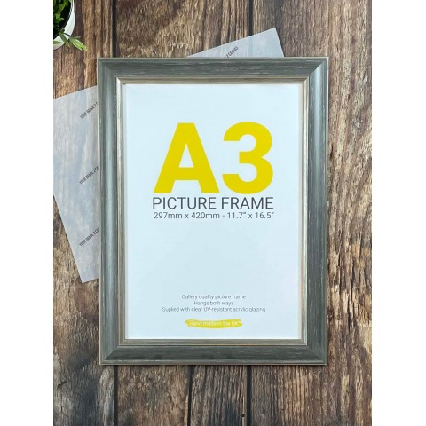 A3 Gold and Brown Frame