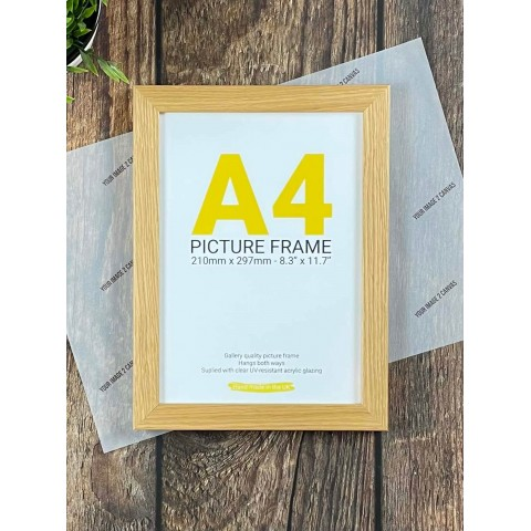 A4 Pine Photo Frame