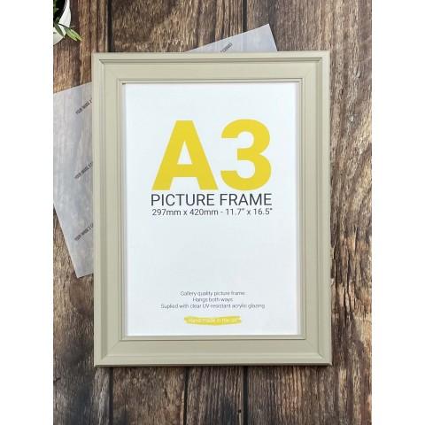 A3 Cream Picture Frame