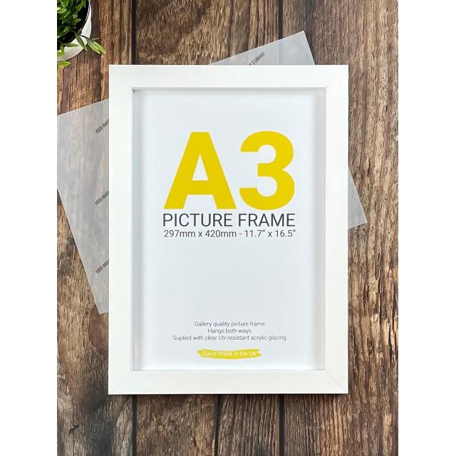 A3 White Wooden Frame
