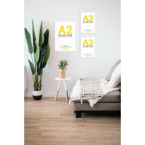 White Frame Gallery Wall, Set of Three