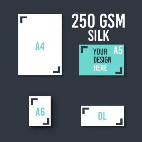 A5 Leaflet 250 GSM Silk