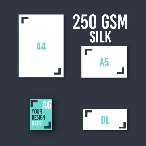 A6 Leaflet 250 GSM Silk