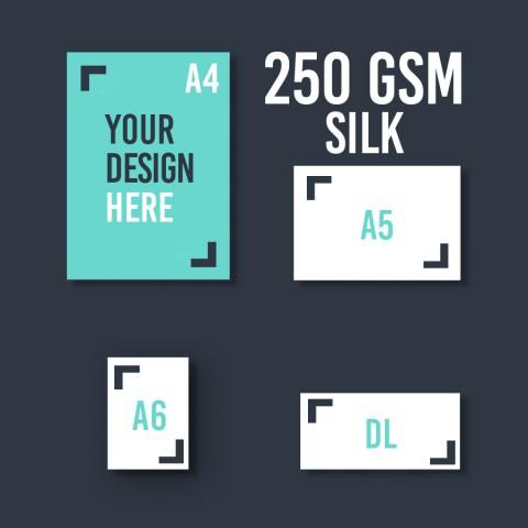 A4 Leaflet 250 GSM Silk