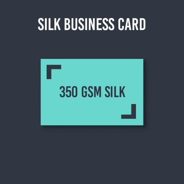 350gsm Silk Business Cards