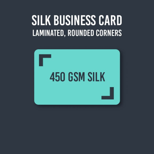 450gsm Silk Business Cards Laminated Rounded Corners