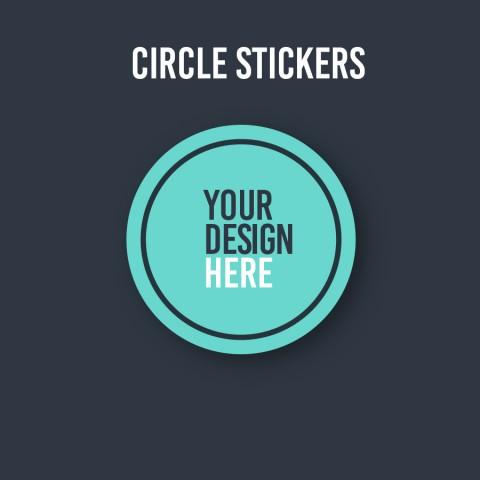 Custom Round or Circular Stickers