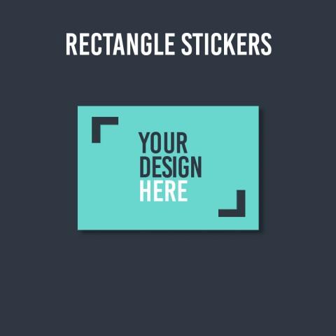 Custom Rectangle Stickers