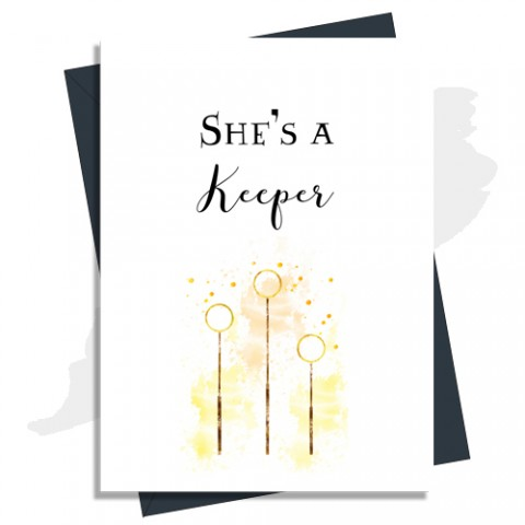 Anniversary Card 'She's A Keeper' Harry Potter Inspired