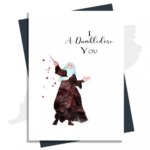 Anniversary Card I A Dumbledore You In Brown Harry Potter Inspired