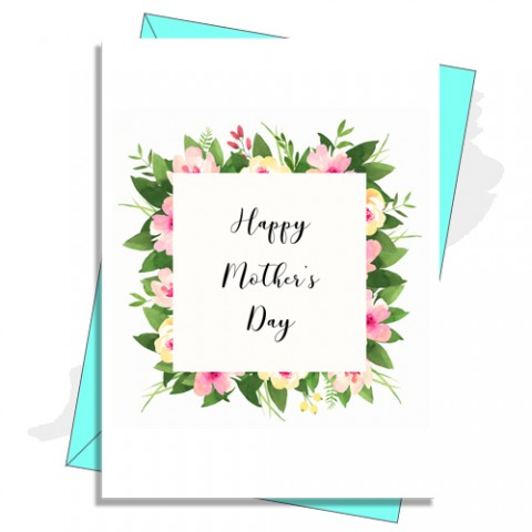 Floral Box Mother's Day Card