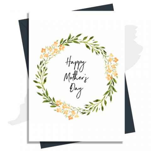 Floral Leaves Mother's Day Card