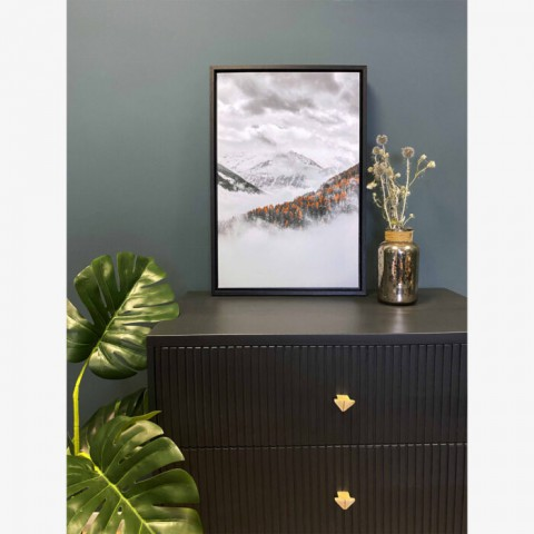 Frosty Mountains Box Frame Canvas