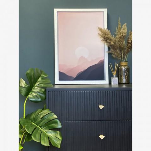 Dusky Mountains Box Frame Canvas