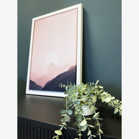 Dusky Mountains Box Frame Canvas
