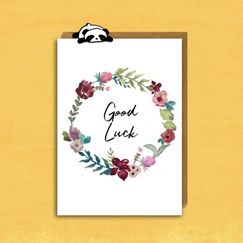 Good Luck - Floral Wreath One