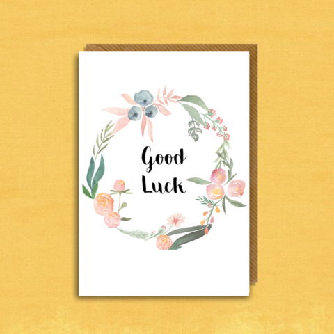 Good Luck - Floral Wreath Two