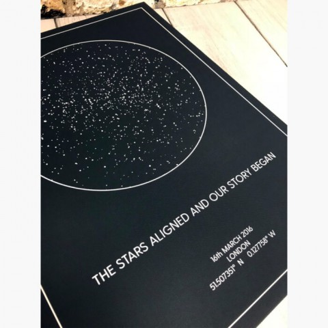 Personalised Star Map Of The Night Sky  Canvas Print