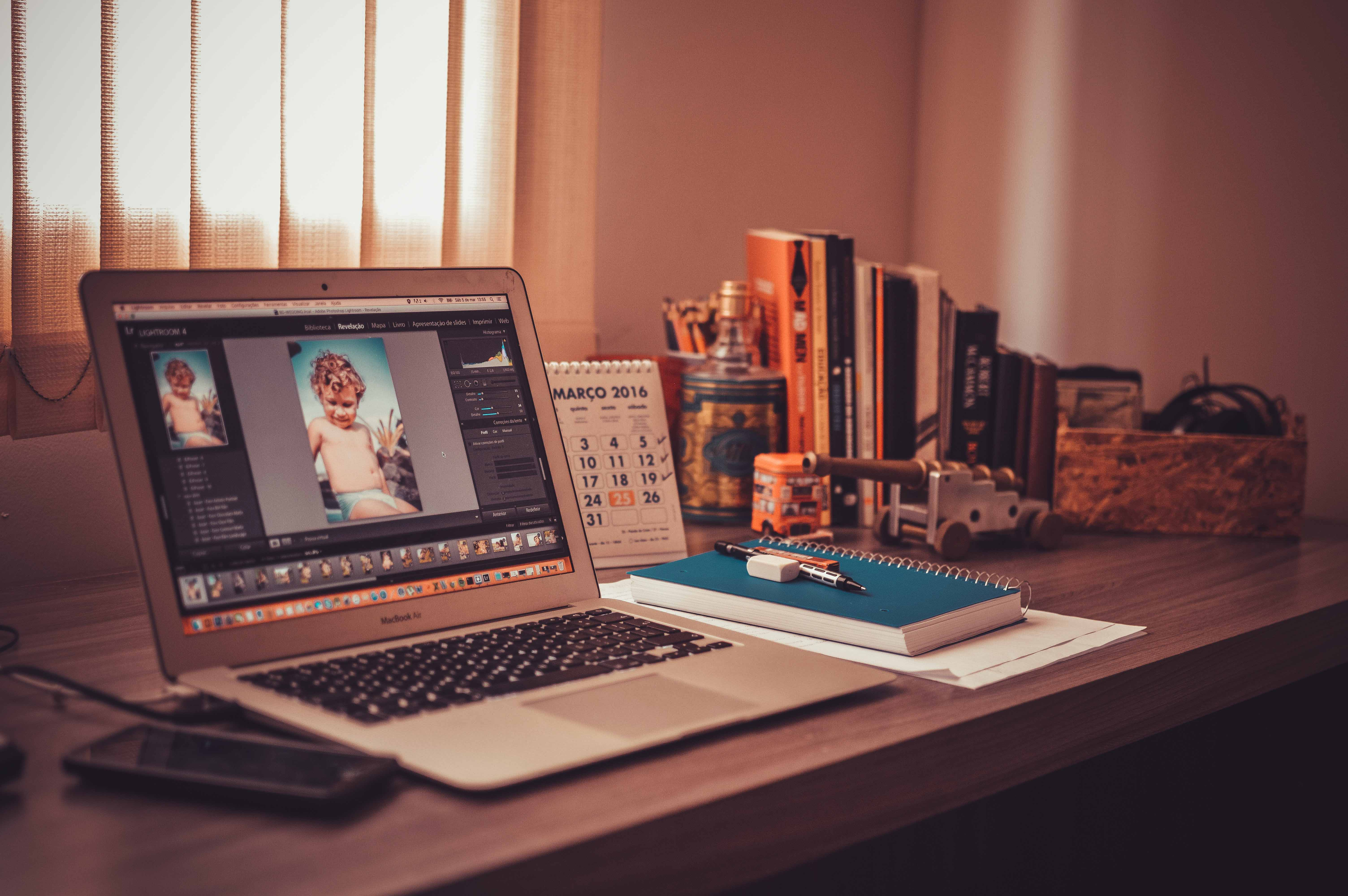 Using space at home to learn photo editing tips for beginners