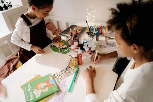 Get your kids to create their own masterpiece to print on cheap quality canvas and display in your home with free next day delivery uk