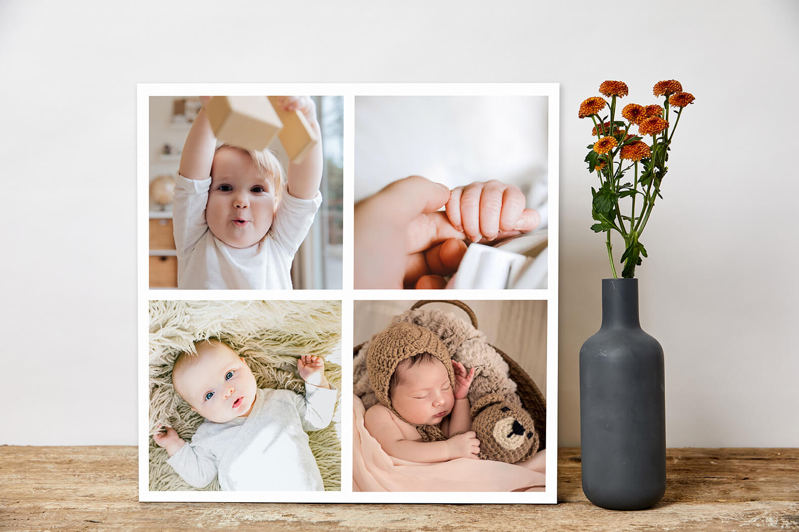 Create a photo poster collage online with montage maker and print on canvas