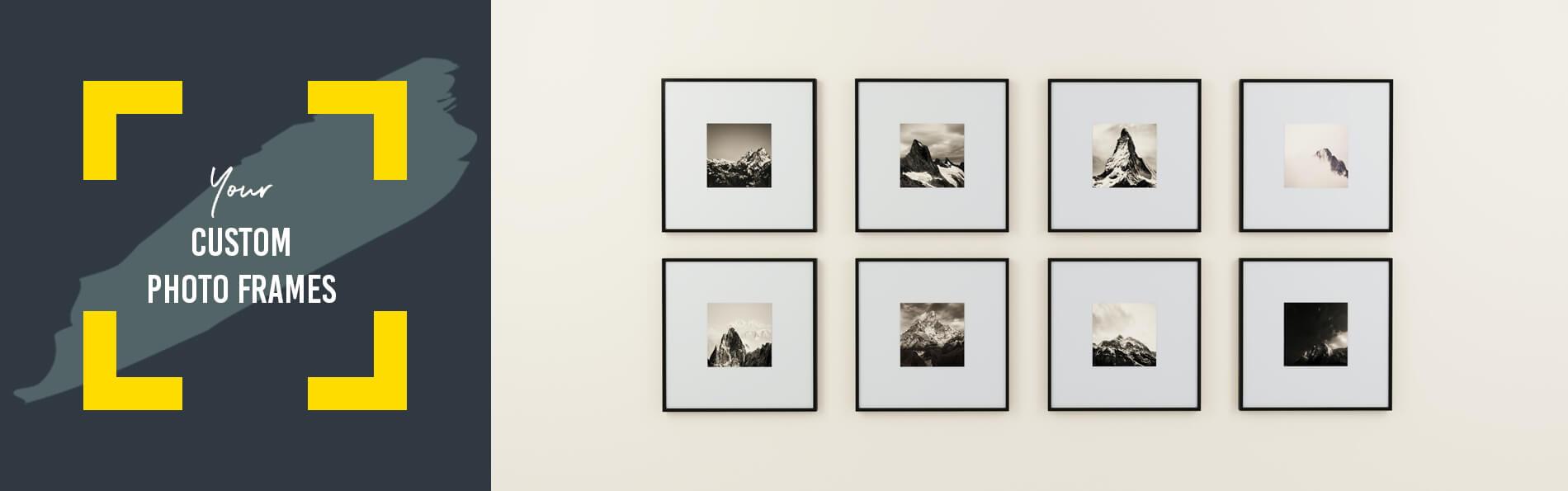 Custom made photo frames