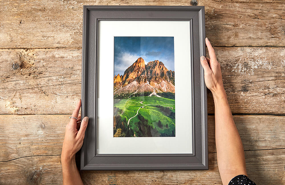 Create framed photo prints online with our custom frames tool and print on poster print