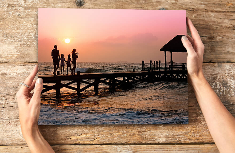 Create personalised photo poster prints to hang as well decor